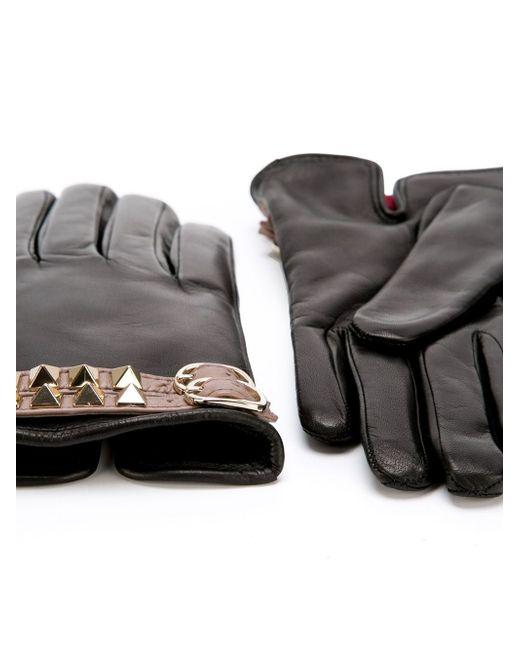 Перчатки Rockstud Valentino                                                                                                              чёрный цвет