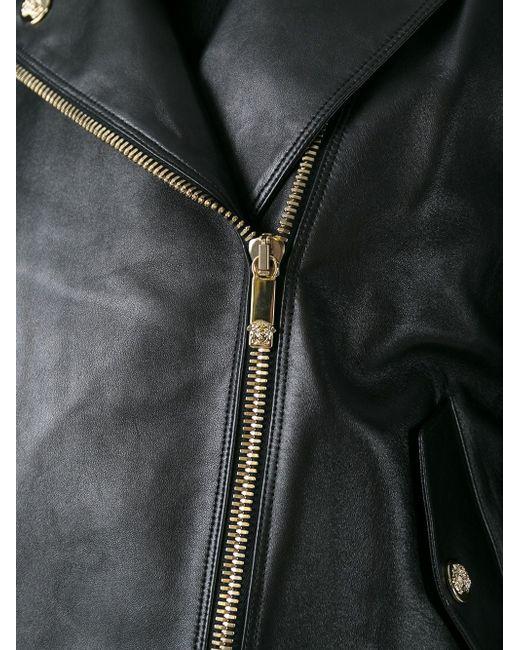 Байкерская Куртка Versace                                                                                                              чёрный цвет