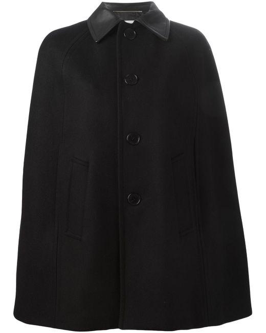 Накидка-Кейп Saint Laurent                                                                                                              чёрный цвет