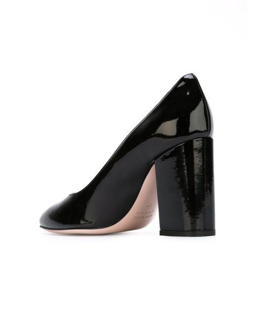 Туфли На Массивном Каблуке Red Valentino                                                                                                              чёрный цвет