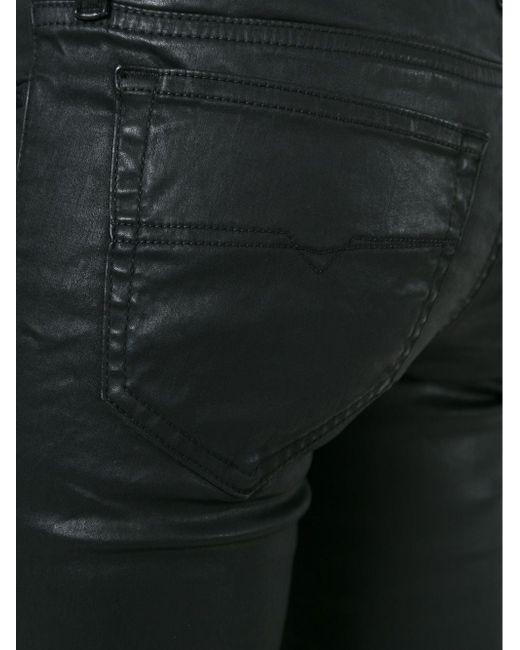Вощеные Джинсы Skinzee Diesel                                                                                                              чёрный цвет