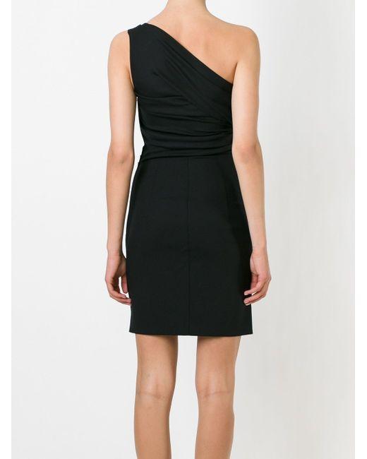 Драпированное Короткое Платье Dsquared2                                                                                                              чёрный цвет