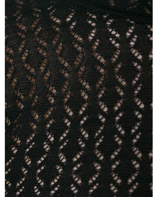 Свитер Ажурной Вязки Dolce & Gabbana                                                                                                              чёрный цвет