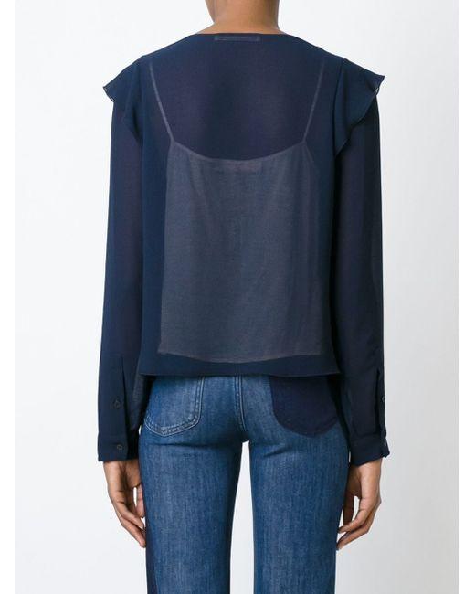 Блузка С Плиссированными Деталями See By Chloe                                                                                                              синий цвет