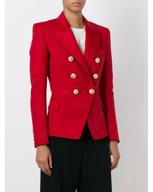 Приталенный Пиджак Balmain                                                                                                              красный цвет