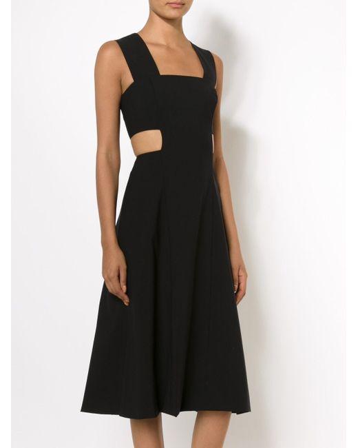 Расклешенное Платье С Вырезными Деталями Suno                                                                                                              чёрный цвет