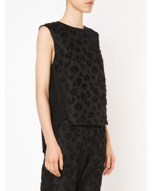 Топ С Однотонным Леопардовым Рисунком 3.1 Phillip Lim                                                                                                              чёрный цвет