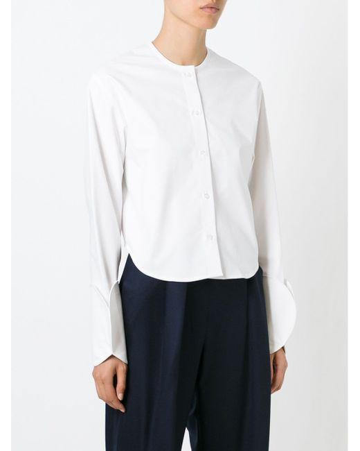 Рубашка С Круглыми Манжетами JACQUEMUS                                                                                                              белый цвет