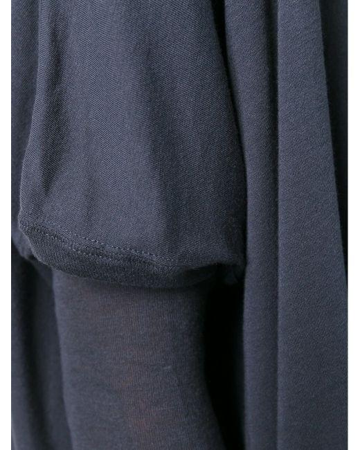 Топ Свободного Кроя С Вырезом-Лодочкой Rick Owens Lilies                                                                                                              синий цвет