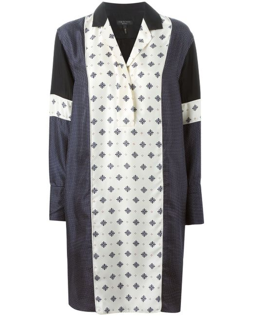 Платье-Рубашка С Принтом Rag & Bone                                                                                                              синий цвет