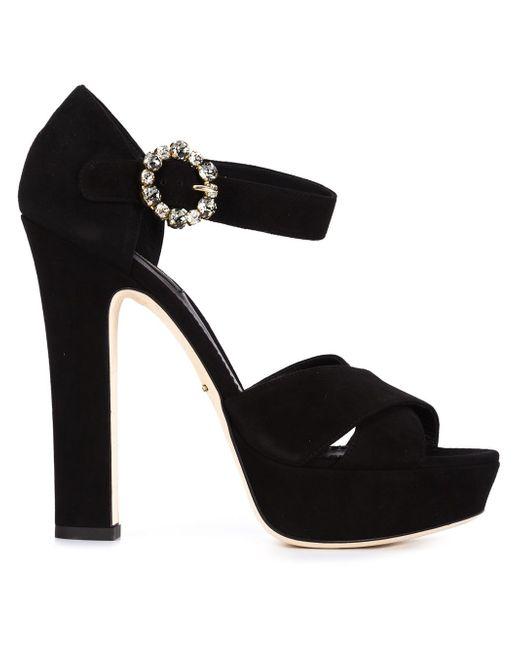 Босоножки На Платформе Dolce & Gabbana                                                                                                              чёрный цвет