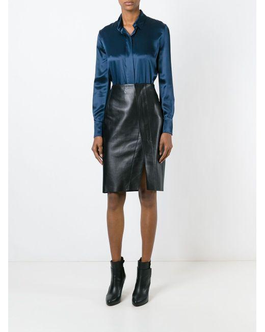 Классическая Рубашка Alexandre Vauthier                                                                                                              синий цвет