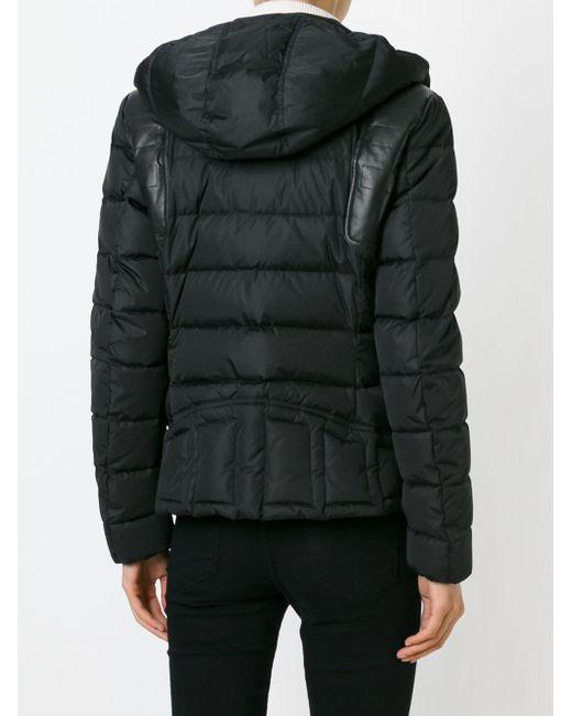 Дутая Куртка С Капюшоном Moncler                                                                                                              чёрный цвет