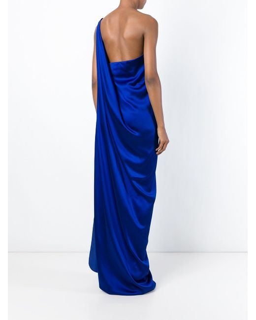 Вечернее Платье На Одно Плечо Maison Rabih Kayrouz                                                                                                              синий цвет