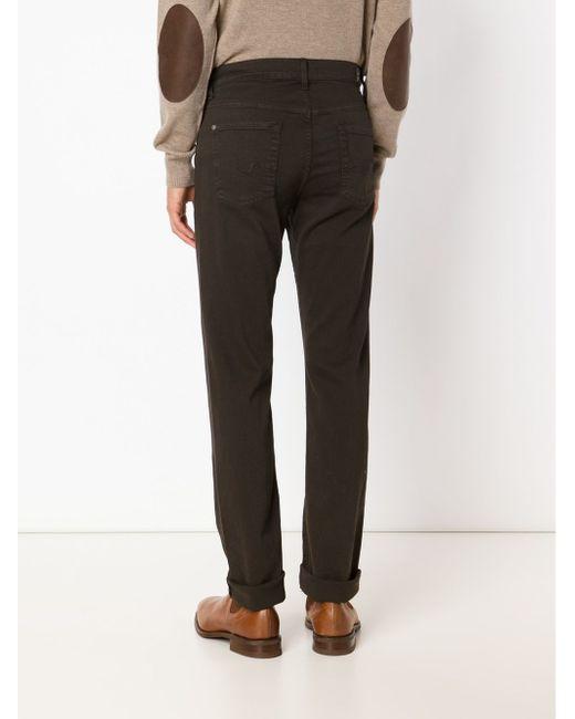 Джинсы The Slimmy Luxe 7 for all mankind                                                                                                              коричневый цвет