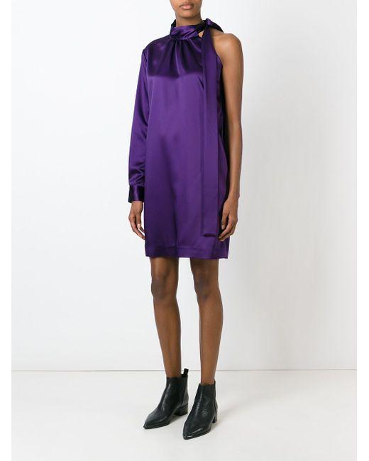 One Sleeve Knot Short Dress MSGM                                                                                                              розовый цвет