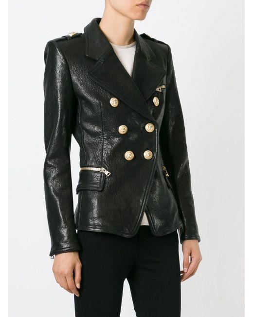 Куртка В Стиле Милитари Balmain                                                                                                              чёрный цвет