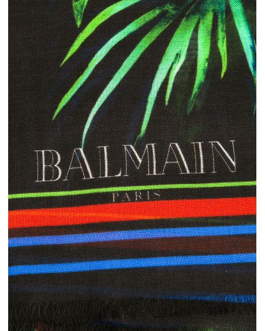 Шарф С Цветочным Принтом Balmain                                                                                                              чёрный цвет