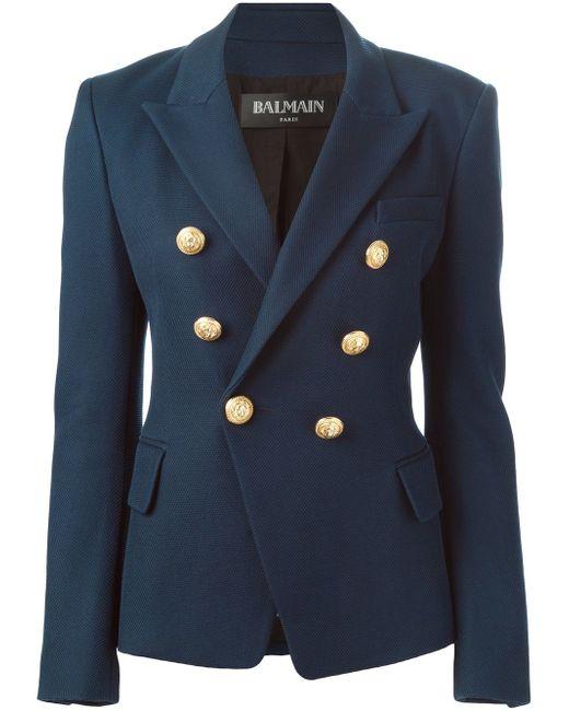 Приталенный Блейзер Balmain                                                                                                              синий цвет