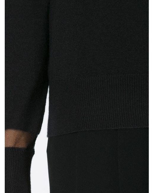 Топ С Высоким Воротником И Прозрачными Панелями Lanvin                                                                                                              чёрный цвет