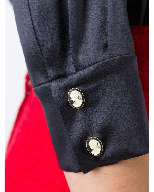 Блузка С Воротником-Стойкой Dolce & Gabbana                                                                                                              чёрный цвет