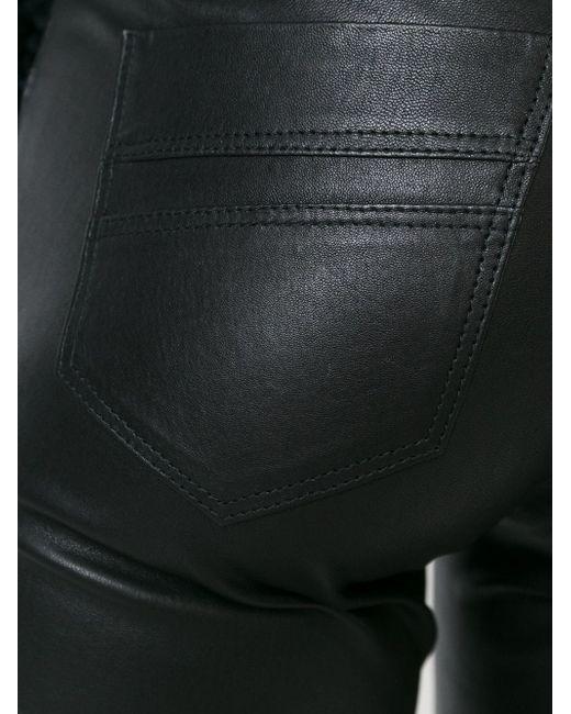 Кожаные Брюки Кроя Скинни Sylvie Schimmel                                                                                                              чёрный цвет