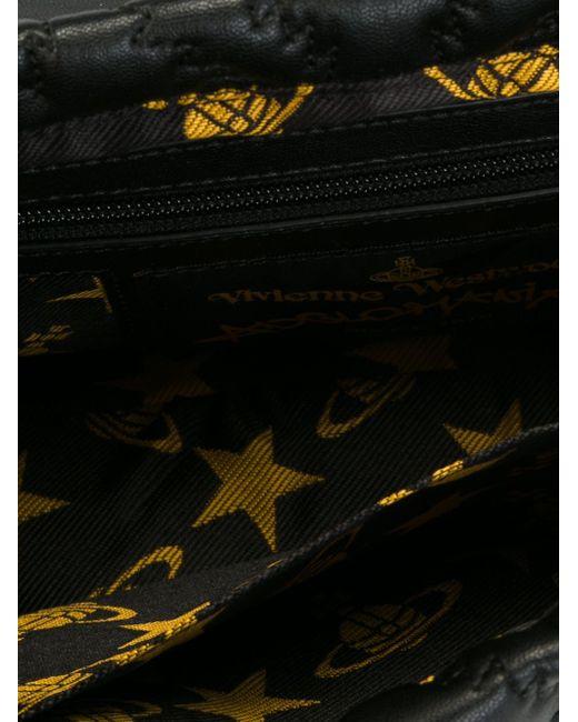 Стеганая Сумка На Плечо Vivienne Westwood Anglomania                                                                                                              чёрный цвет
