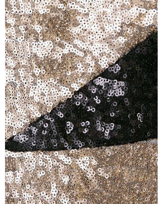 Топ С Пайетками MSGM                                                                                                              коричневый цвет