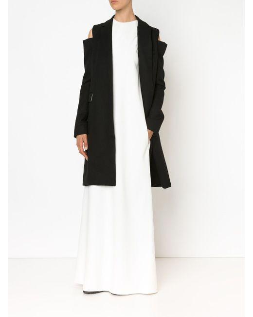 Cut Shoulder Coat Vera Wang                                                                                                              чёрный цвет