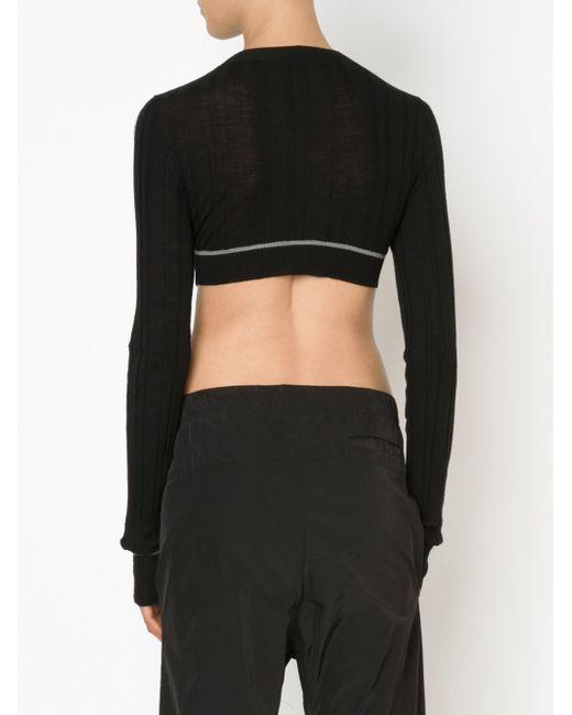 Cropped Ribbed Sweater Vera Wang                                                                                                              чёрный цвет