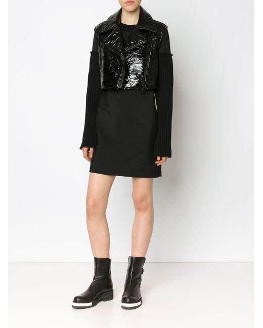 Sleeveless Vinyl Biker Jacket Vera Wang                                                                                                              чёрный цвет