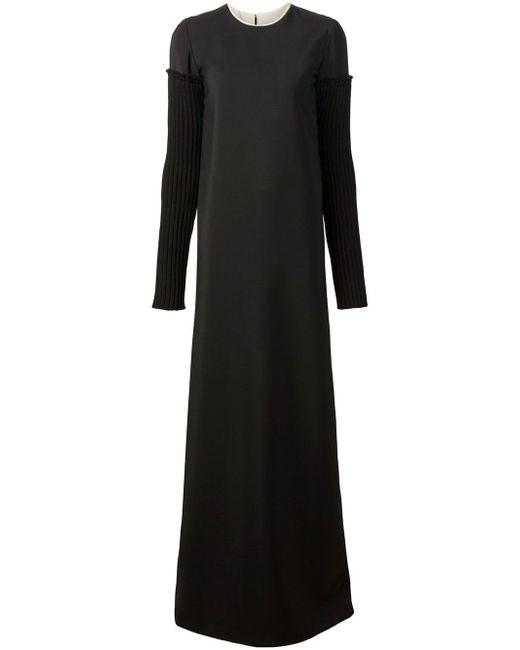 Long Corset Back Dress Vera Wang                                                                                                              чёрный цвет