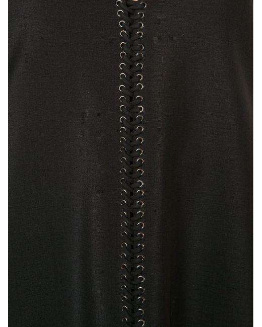 Plunging V-Neck Evening Dress Vera Wang                                                                                                              чёрный цвет