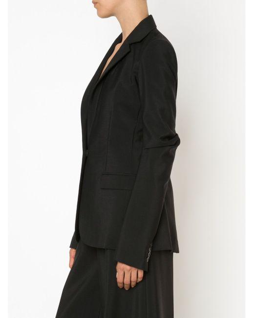 Draped Sleeve Blazer Vera Wang                                                                                                              чёрный цвет