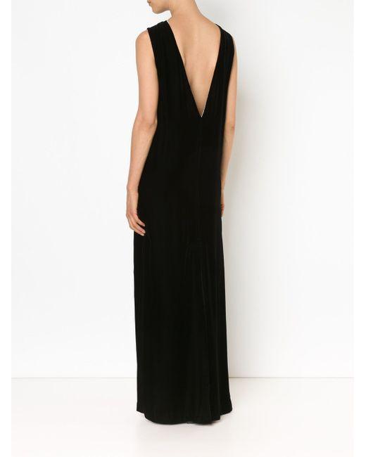 Velvet Column Gown Vera Wang                                                                                                              чёрный цвет