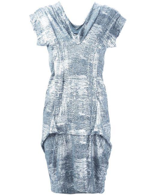 Комбинированное Платье С V-Образным Вырезом Vivienne Westwood                                                                                                              серебристый цвет