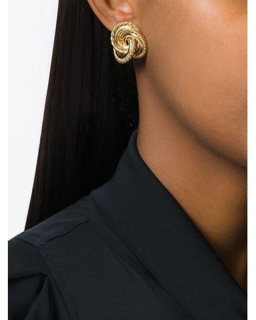 Клипсы В Форме Узлов Givenchy                                                                                                              серебристый цвет