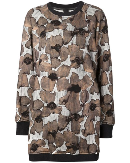Poppy Print Sweatshirt Dress Vera Wang                                                                                                              чёрный цвет