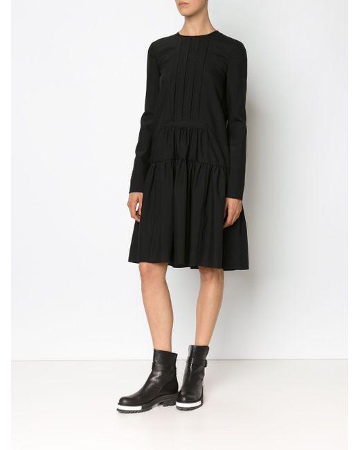 Dropped Waist Longsleeved Dress Vera Wang                                                                                                              чёрный цвет