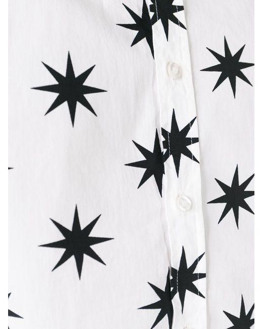 Рубашка С Принтом Звезд Love Moschino                                                                                                              белый цвет