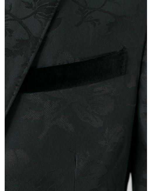 Пиджак С Жаккардовым Узором В Цветки Гибискуса Alexander McQueen                                                                                                              чёрный цвет