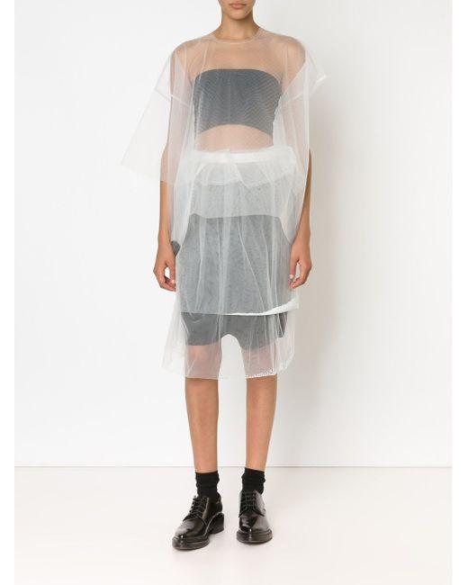 Double Layered Sheer Skirt PHOEBE ENGLISH                                                                                                              белый цвет