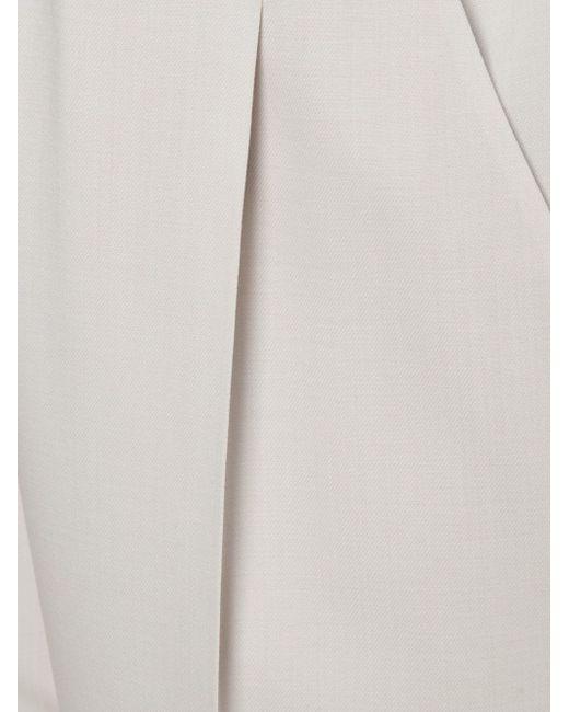 Плиссированные Брюки Brunello Cucinelli                                                                                                              белый цвет