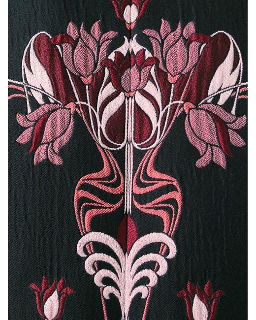 Платье С Цветочной Вышивкой GIAMBA                                                                                                              чёрный цвет