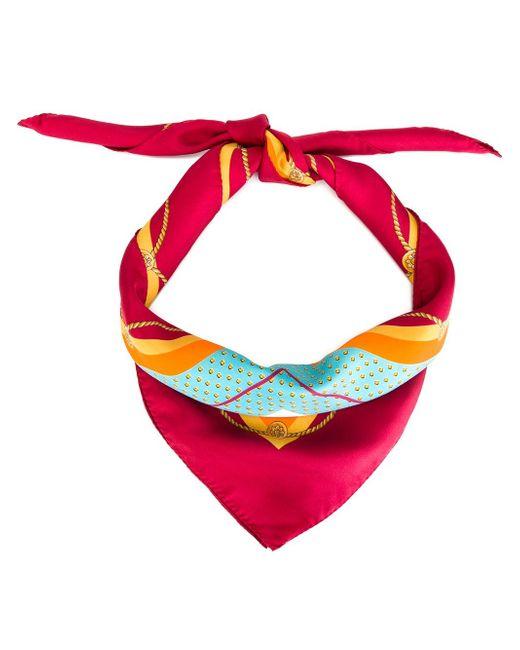 Шарф С Принтом Детских Рисунков Dolce & Gabbana                                                                                                              красный цвет