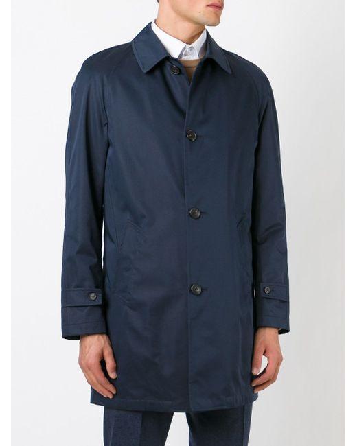 Короткое Пальто Corneliani                                                                                                              синий цвет