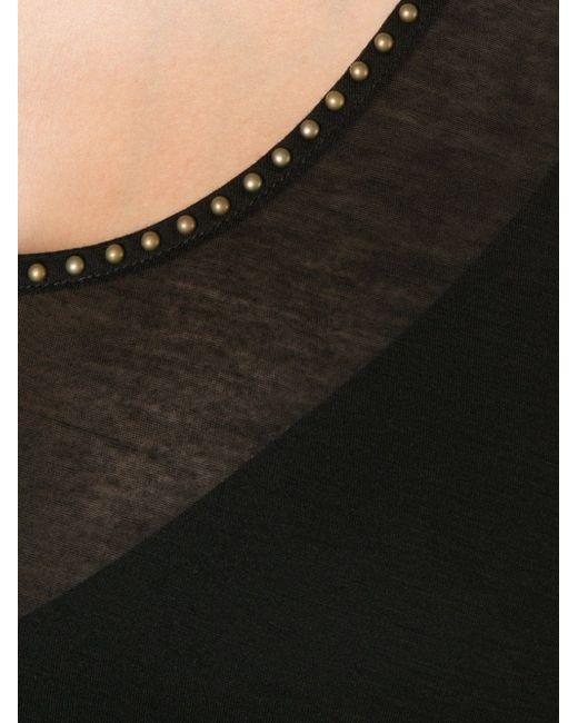 Studded Trim Tank Top Tomas Maier                                                                                                              чёрный цвет