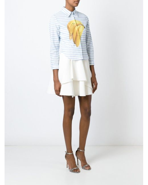 Рубашка С Принтом Бананов Natasha Zinko                                                                                                              синий цвет