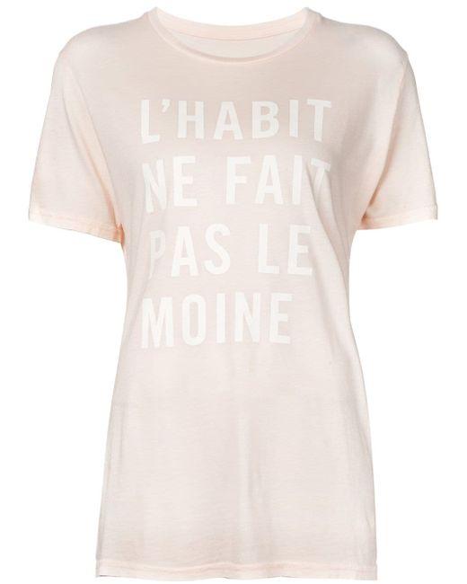 Футболка Lhabit Ne Fait Pas Le Moine Clare Vivier                                                                                                              Nude & Neutrals цвет