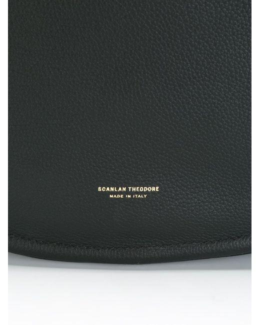 Сумка-Хобо С Логотипом SCANLAN THEODORE                                                                                                              чёрный цвет